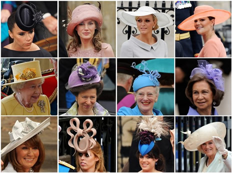 Les chapeaux au mariage princier noblesse royaut s for Cappelli per matrimonio