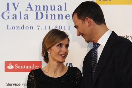 Felipe et letizia d 39 espagne d ner la chambre espagnole for Chambre de commerce a londres