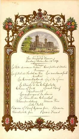 Dessin De Menu Pour Noel.Menus Royaux Noel A La Cour D Angleterre Osborne 1891