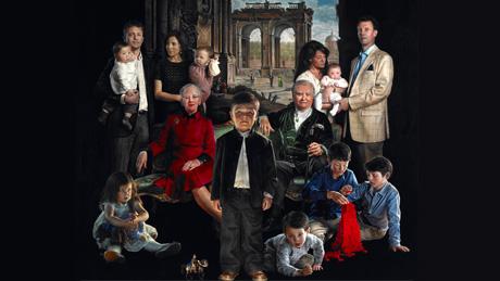 Tableau repr sentant la famille royale danoise noblesse royaut s - Symbole representant la famille ...