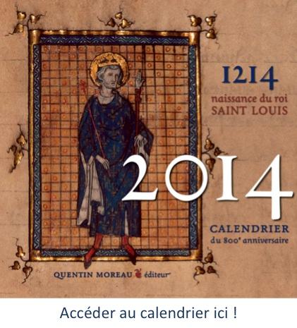 Saint Louis Calendrier.800eme Annivesraire De La Naissance De Saint Louis