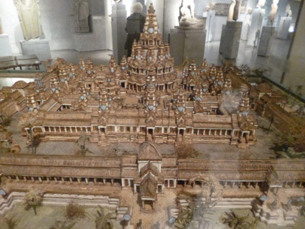 La maquette du temple d'Angkor