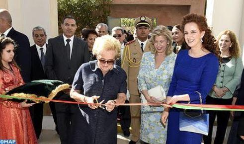 Lalla salma du maroc inaugure la maison de vie for Fondation maison du maroc