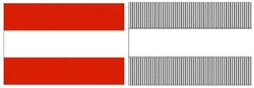 numismatique de l 39 euro le drapeau autrichien noblesse royaut s. Black Bedroom Furniture Sets. Home Design Ideas