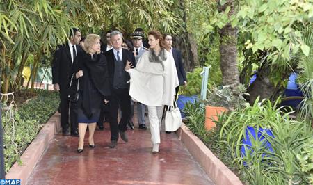 Lalla Salma Du Maroc Fait Visiter Le Jardin Majorelle Noblesse