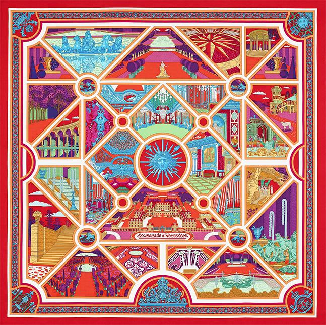 Un carré Hermès en soutien à la restauration de Versailles ... f7d527a6e91