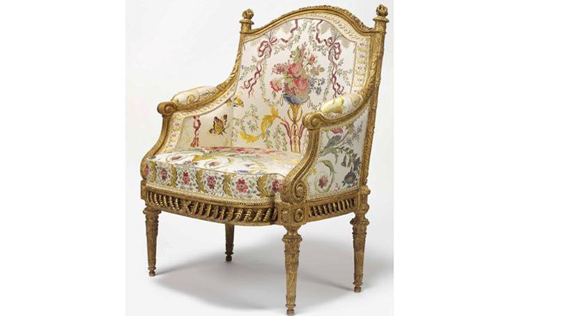 vente d 39 un fauteuil de la reine marie antoinette noblesse royaut s. Black Bedroom Furniture Sets. Home Design Ideas