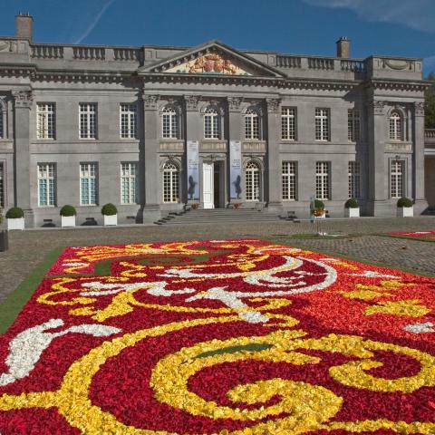 tapis de fleurs au ch 226 teau de seneffe noblesse royaut 233 s
