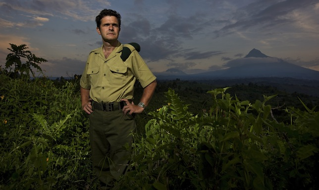 RUMANGABO, NORTH KIVU, DEMOCRATIC REPUBLIC OF CONGO - NOVEMBER 24: ICCN Director of Virunga National Park Emmanuel De Merode photographed at Rumangabo Ranger Headquarters, North Kivu, Democratic Republic of Congo on November 24, 2008. De Merode is a tireless and courageous advocate of conservation in the DRC and has been working in the Congo since 1992. De Merode is also a Prince of Belgium and is a direct descendant of Felix De Merode who led the Belguim rebellion of 1830. After a succesful campaign Felix decline the title of King of Belguim and Leopold the 1st came to power in Belguim. The Gorilla Sector of the Park has been occupied by the rebel movement CNDP under rebel Congolese Tutsi General Laurent Nkunda. Since September 2007 no ICCN Ranger has set foot in this sector, almost all had to flee the fighting and it has not been safe to return. Recent violence in the region has seen CNDP extend its power in the region and it now controls over 50% of the park and all of the Southern section. Emmanuel De Merode, the Director of Virunga National Park, has performed some remarkable diplomacy since the recent fighting and has succesfully negotiated with CNDP and General Nkunda to return the ICCN Rangers to the Park. This is a fragile process but so far 120 courageous Rangers are back at the Southern Headquarters at Rumangabo and there is a camp in the Gorilla Sector at Bukima which has begun a Gorilla census to determine the effects of the war on the mountain Gorilla population. It is a remarkable case of conservation winning out over politics. The DRC had just over 200 of the extremely rare mountain Gorillas, of which there are only 680 in the world.  (Photo by Brent Stirton/Getty Images)