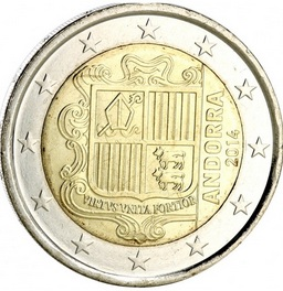 numismatique de l 39 euro la principaut d 39 andorre noblesse royaut s. Black Bedroom Furniture Sets. Home Design Ideas