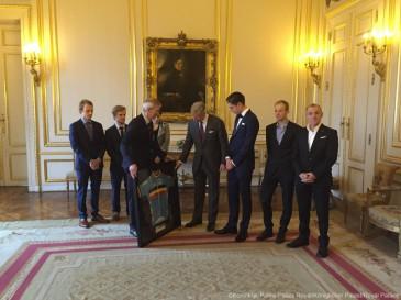 Le roi Philippe reçoit des coureurs cyclistes médaillés