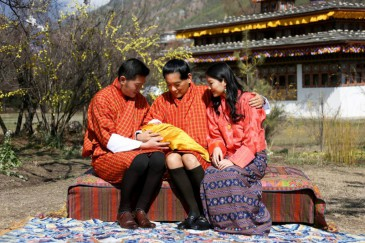 Présentation du prince héritier du Bhoutan