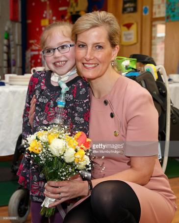 La comtesse de Wessex à l'hôpital des enfants St Christopher