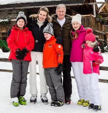 Les souverains belges en famille à Verbier