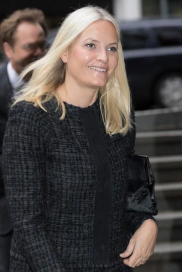 Mette-Marit de Norvège à une conférence