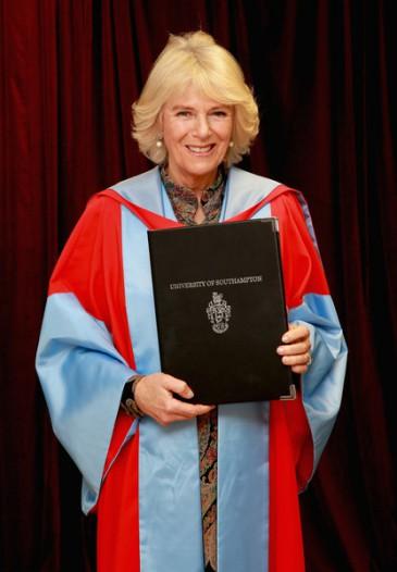 La duchesse de Cornouailles à l'université de Southampton