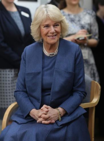 Camilla en visite au Royal Trinity hospice