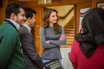 Rania de Jordanie à la journée des bénévoles