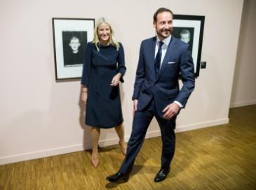 Haakon et Mette Marit de Norvège au musée Munch