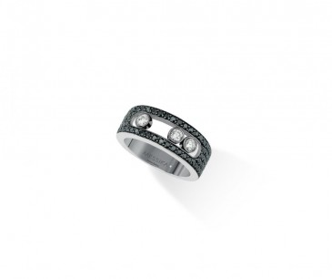 Bague en diamants noirs