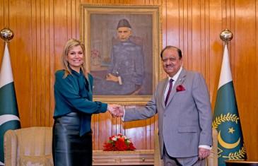 La reine des Pays-Bas reçue par la président pakistanais