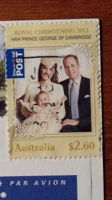 Timbre australien des ducs de Cambridge
