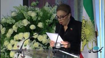 Cérémonie d'hommage à la princesse Ashraf