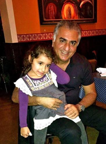 Le prince Reza d'Iran et sa nièce Iryana Leila