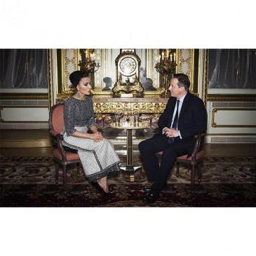 La sheikha Mozah reçue par le premier Ministre britannique