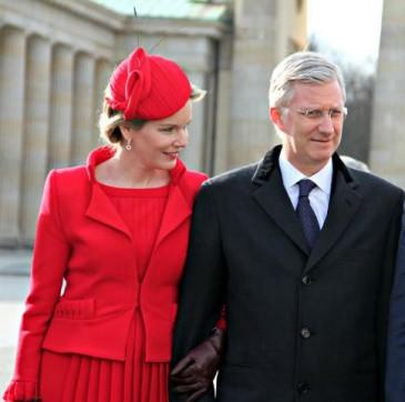 Les souverains belges accueillent le président allemand