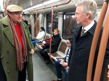 Le roi Philippe prend le métro jusqu'à la station Maalbeek