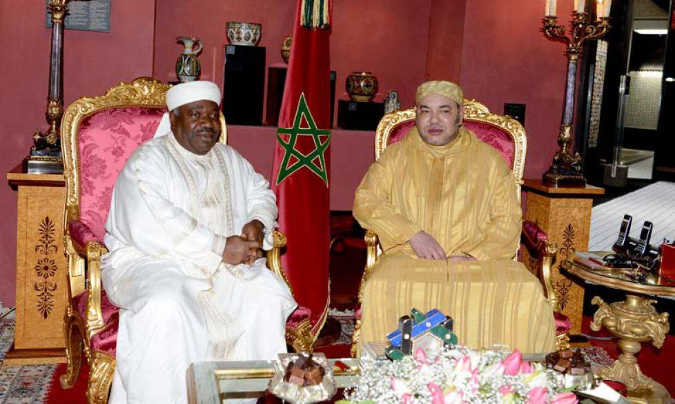 Le roi du Maroc reçoit le président du Gabon