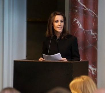 Marie de Danemark à une conférence de l'UNESCO
