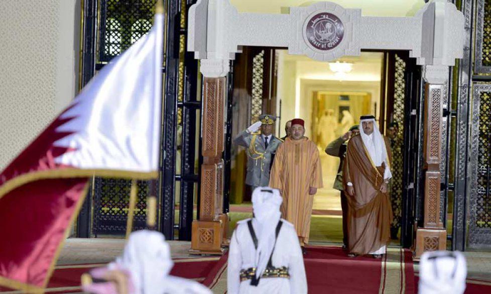 Le roi du Maroc au Qatar