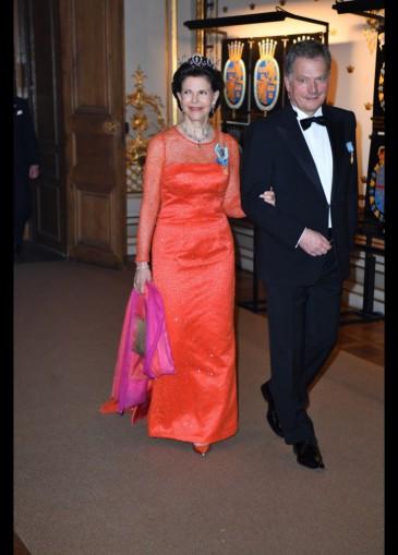 Dîner de gala au Palais royal de Stockholm