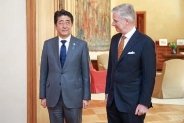 Le roi Philippe reçoit le Premier Ministre du Japon