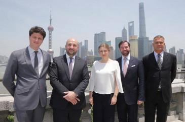 Guillaume et Stéphanie de Luxembourg en Chine