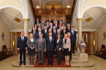 Henri de Luxembourg reçoit les présidents des parlements de l'Union européenne