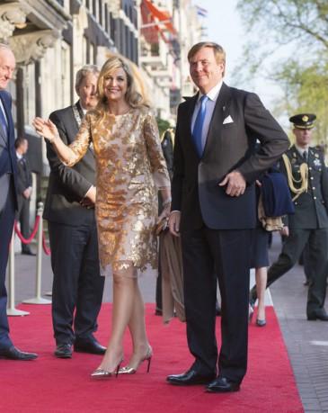 Les souverains des Pays-Bas au concert de la libération