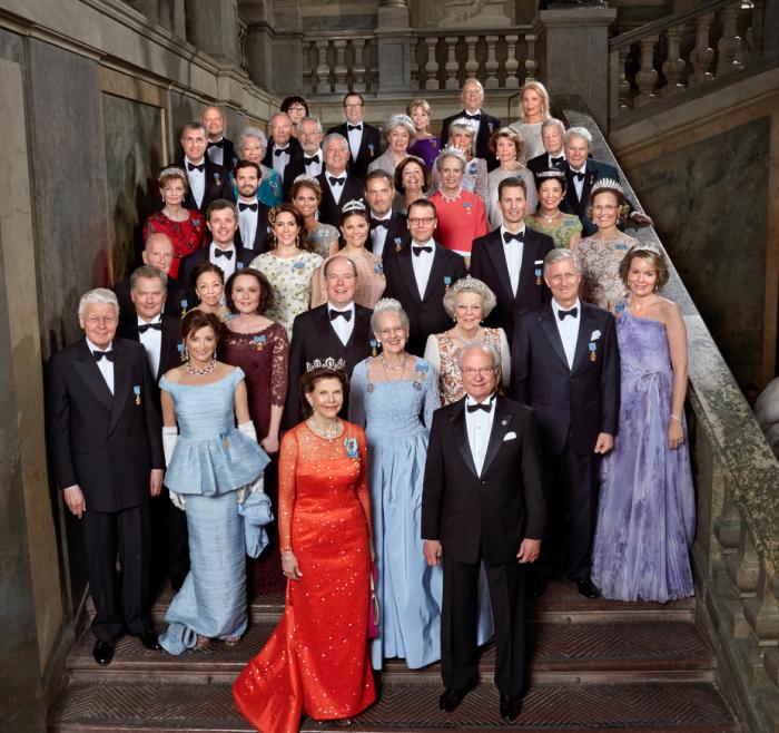70 ans du roi de Suède : photo officielle