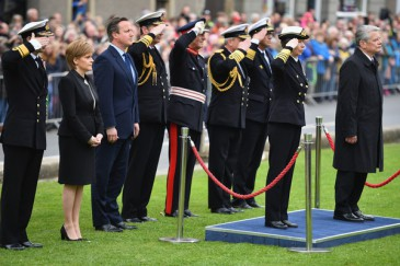 La princesse royale et le président allemand commémorent la Bataille navale du Jutland