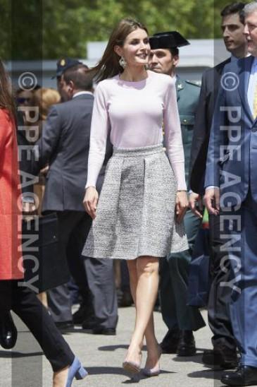 La reine d'Espagne à la Foire du Livre