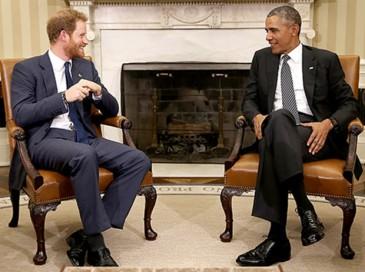 Le couple présidentiel américain défie le prince Harry