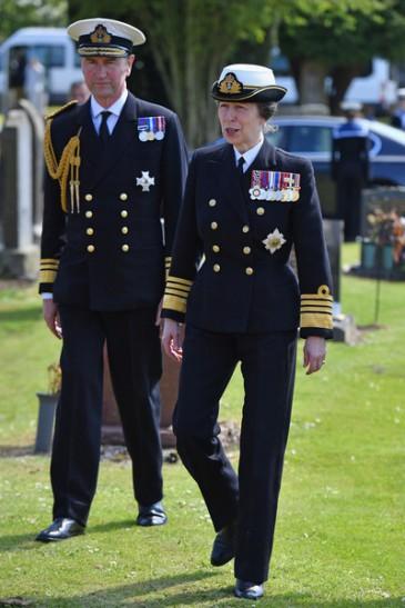 La princesse Anne commémore la bataille du Jutland
