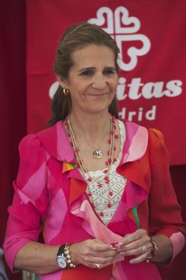 Elena d'Espagne à la Journée de la Charité