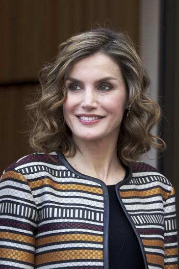 La reine d'Espagne à un séminaire de journalisme