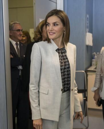 Letizia d'Espagne en visite au CIAL