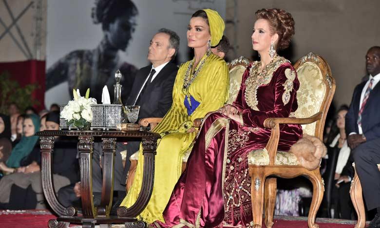 Matrimonio In Morocco : Lalla salma du maroc et la sheikha mozah au concert des