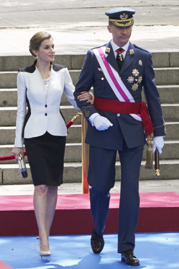 Les souverains espagnols à la Journée des Forces armées