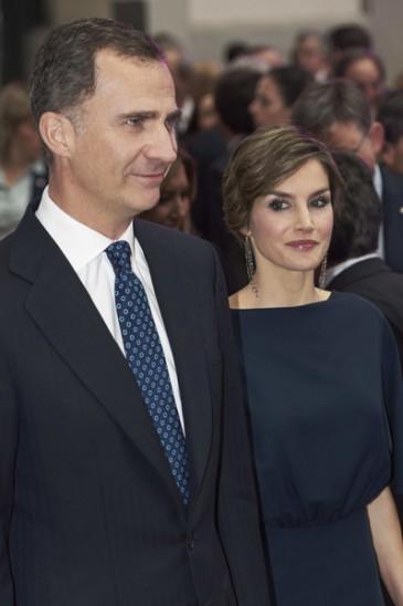Les souverains espagnols à une remise de prix de journalisme